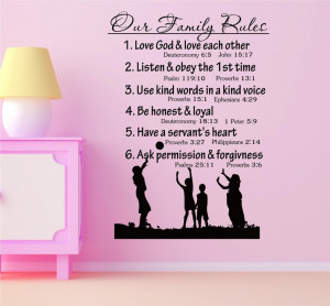 Our Fmily Rules 1.love god and love each other deuteronomy 6:5 John 15 ...