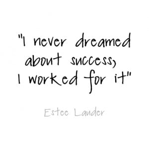 ... Success Rather Dreaming It Motivational Quote Work for Success Rather