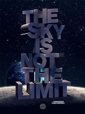 The sky is not the limit quote commander chris hadfield Imgur