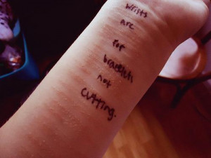 wrists are for bracelets not cutting