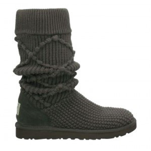 Argyle Knit Ugg Charcoal