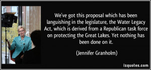 We've got this proposal which has been languishing in the legislature ...