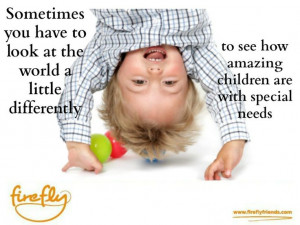 Special needs postcard - look at the world a little differently