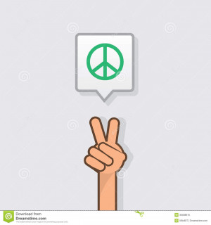 Hand Making Peace Sign With...