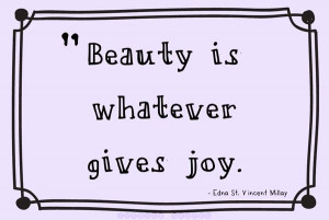 ... on being beautiful, even if no one bothers to look at it. Gene Amole