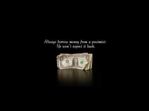 Wallpaper: Quotes-borrow money wallpaper