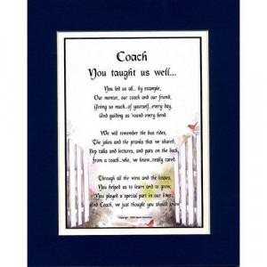 coaches poem