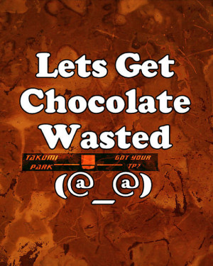 Chocolate wasted, art print, drunk, sorority, humourous quote, kitchen ...