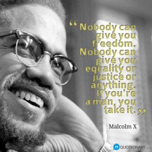 Malcolm X motivational quote