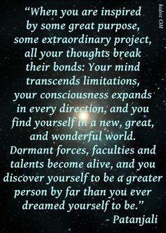 ... Quotes, Meditation, Spiritual Awakening Quotes, Living, Patanjali