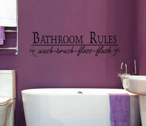 ... Home › Bathrooms › Creative and Fun Bathroom quote wall stickers
