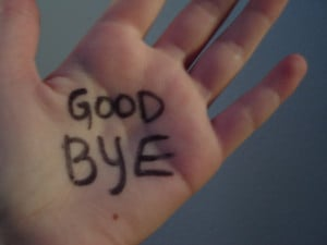"Maybe, every year we should resolve to start saying""goodbye"""