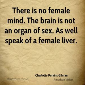 Charlotte Perkins Gilman Sex Quotes
