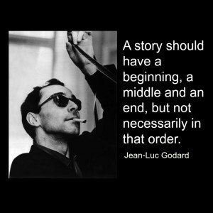 did my first graphic on December 1st, a picture of Jean-Luc Godard:
