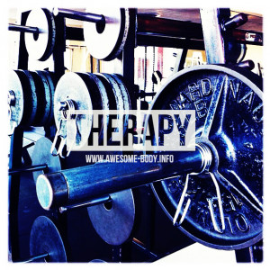 Gym is my therapy | Motivation Quote