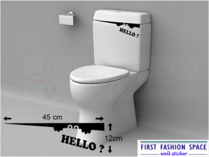 ... 4pcs) FUNNY TOILET BATHROOM WALL STICKER WALL ART DECAL QUOTE 12*45CM
