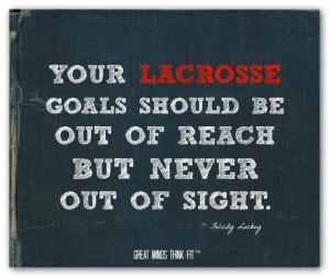 Lacrosse Quotes Lacrosse goals quote