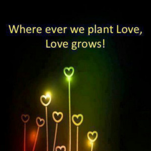 Love grows.