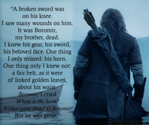 Faramir's vision (or real occurrence?) after Boromir's death ...