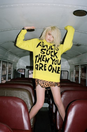 sweater quote on it sky ferreira yellow beautiful swag fashion need ...