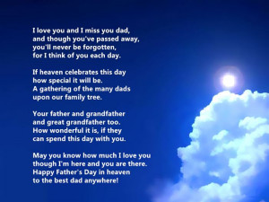 Miss You Fathers Day Quotes Poems for deceased Dads
