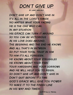 Uplifting Poem about not giving up or giving in - DONT-GIVE-UP