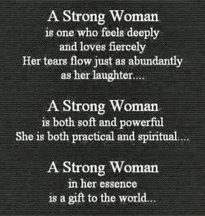 Strong woman....