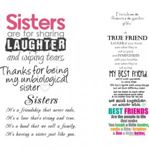 Best Friends And Sister Quotes - Polyvore