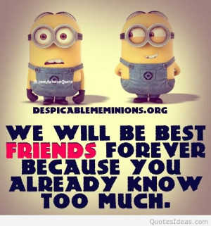 ... tops funny minions images, sayings, letters, quotes for bestfriends