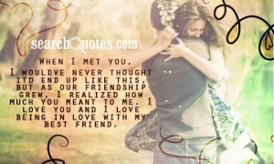 Fell In Love With My Best Guy Friend Quotes