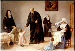 St. Vincent de Paul and the Sisters of Charity caring for foundlings ...