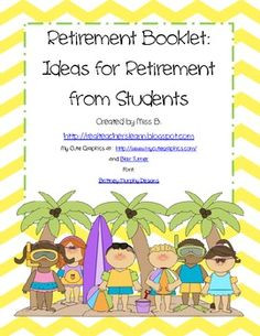 Teacher Retirement Quotes And Poems Retirement booklet class gift