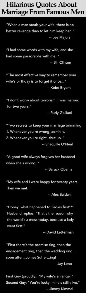 Hilarious Quotes About Marriage From Famous Men Pictures, Photos, and ...