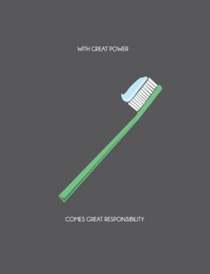 With great power comes dental responsibilities #dentalhumor #funny