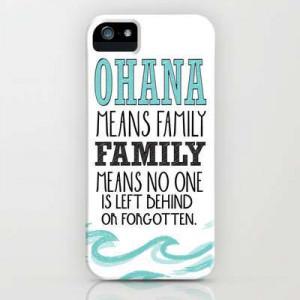 Ownza - ohana means family.. lilo and stitch disney... iPhone & iPod ...