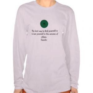 Gandhi Inspirational Quote About Self-Help T-shirt