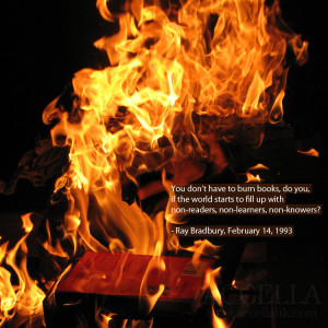 We're reading Fahrenheit 451 this week!