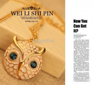 Women With Green Eyes Quotes Owl-shape-necklace-funny-vivid ...