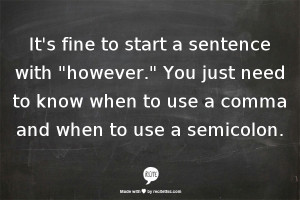 Starting a Sentence With