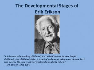 Erik Erikson 39 s Stages of Development Chart