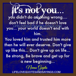 Be Strong Be Brave..