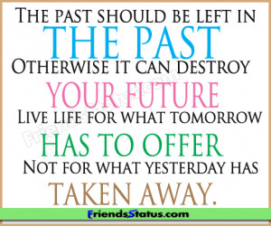 past future attitude quotes status update