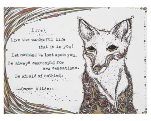 , Oscar Wilde Quote - 8x10 Limited Edition Archival Print, 5/100 ...