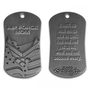 air force mom dog tag necklace
