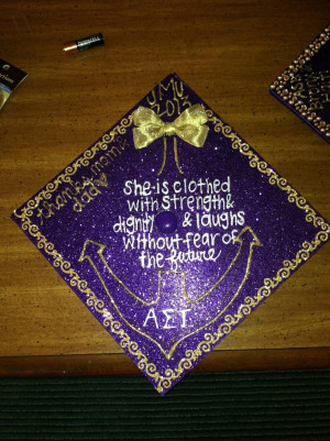 AST / JMT decorated graduation cap grad hat commencement purple design ...