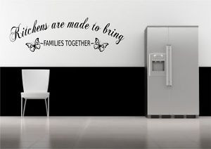 Kitchen-Family-Together-Quote-Wall-Sticker-Decal-Transfer-Mural ...