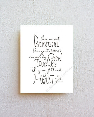The Little Prince quote print - the most beautiful things - wall decor ...