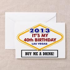 Vegas Birthday Greeting Cards