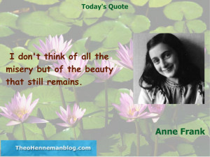 Anne Frank: Misery and Beauty