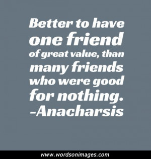 Value of friendship quotes
